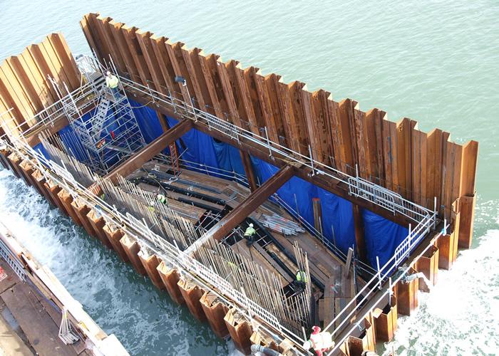Tablestacas en construcción